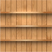 Realistic wooden shelves — Stock Vector