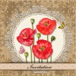 Royalty-Free Stock Vector Image: Card design with poppy vintage
