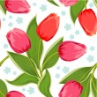 Spring Texture of tulips seamless — Stock Vector #25161101
