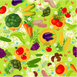 Vegetable seamless texture — Stock Vector #26365343