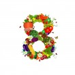 Fresh vegetables and fruits number 8 — Stock Vector