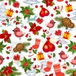 Stock vektor: Merry Christmas texture seamless
