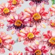 Flower seamless texture watercolor — Stock Photo