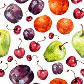 Fruit seamless texture watercolor — Stock Photo