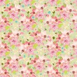 Stock Vector: Beautiful floral seamless texture