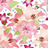 Beautiful floral seamless texture — Stock Vector