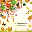 Autumn background for your design — Stock Vector