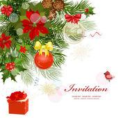 与杉木设计圣诞贺卡 — 图库矢量图片