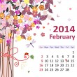 Calendar for 2014, february — Stock Vector #29965003