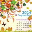 Calendar for 2014, September — Stock Vector
