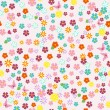 Cute seamless floral texture — Stock Vector