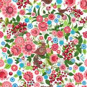 无缝的花卉纹理 — 图库矢量图片