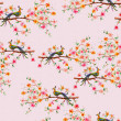 Foto Stock: Floral seamless texture watercolor
