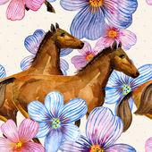 Textura floral sin fisuras de la acuarela — Foto de Stock