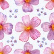 Flower seamless texture watercolor — Stock Photo #31635621