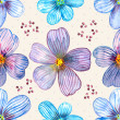 Flower seamless texture watercolor — Stock Photo #31635651