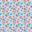 Flower seamless texture watercolor — Stock Photo #31635657