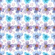 Flower seamless texture watercolor — Stock Photo #31635699