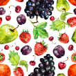 Fruit seamless texture watercolor — Stock Photo #31635751