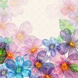 floral retro card watercolor — Stock Photo