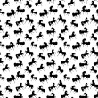 Seamless retro texture with horses — Imagen vectorial