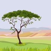 Dağ idealist doğal peyzaj — Stok Vektör