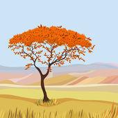 山理想主义自然景观 — 图库矢量图片