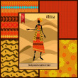 African girl dressed in a decorative — Imagen vectorial