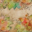 Floral abstract watercolor — Stock Photo