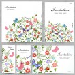 Set of floral cards — Stock Vector #34883907