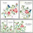 Set of floral cards — Stock vektor #34883909
