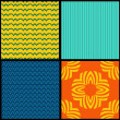 Set seamless textures — Stock Vector