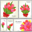 Set of floral cards for your design — Vecteur #35578779