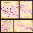 Set of floral cards for your design — Vettoriale Stock