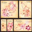Set of floral cards for your design — стоковый вектор #35578811