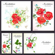 Set of floral cards for your design — Vector de stock #35578827