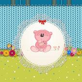 为您设计的玩具熊卡 — 图库矢量图片