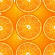 Seamless texture of juicy oranges — Stock Vector