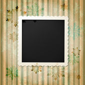 Retro vintage photo frame — Stock Vector