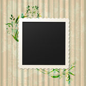 Retro vintage photo frame — Vector de stock
