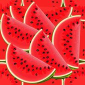 Seamless texture of juicy watermelon — Stock Vector