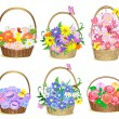 Baskets of flowers — Stock Vector #3760860