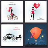 幸せなバレンタインの日カードの挨拶 — ストックベクタ