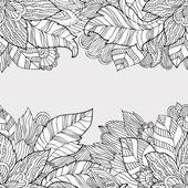 Smidig konsistens av mode blommig prydnad — Stockvektor
