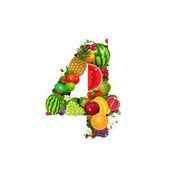 количество плодов 4 — Cтоковый вектор