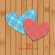 Valentine on wooden texture — Stock Vector #39603415