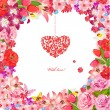 Stock Vector: Design greeting cards for Valentine's Day
