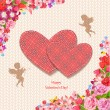 Design greeting cards for Valentine's Day — Cтоковый вектор