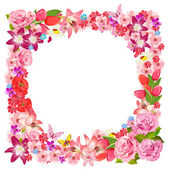 Frame of beauty floral for you design — Stock Vector
