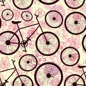 Seamless texture of bicycle — Stockvector